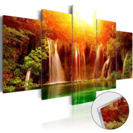 25 Waterval Natuur Acrylglas Schilderij