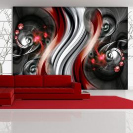 Rood Abstract Art nr 741