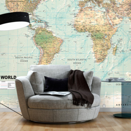 Blauw Wereldkaart Landen nr 942