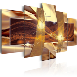419 Abstract Goud Art