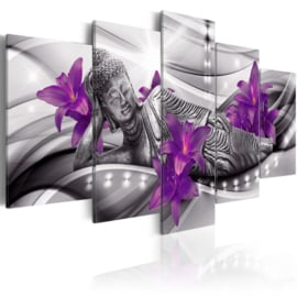 283 Buddha Paars Bloemen