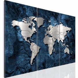 nr 20 Blauw Wereldkaart