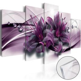 26 Modern Paars Bloemen Acrylglas Schilderij
