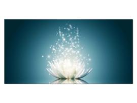 29 Lotus Bloem Glas Schilderij