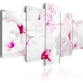 642 Roze Witte Bloemen Modern