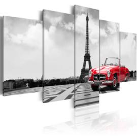 725 Eiffeltoren Parijs Rode Cabrio