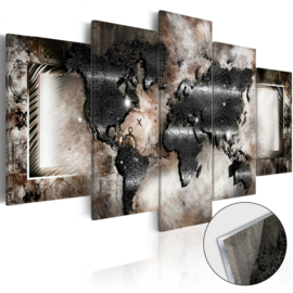 8 Wereldkaart Acrylglas Schilderij