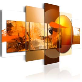 705 Abstract Oranje Art