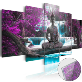29 Buddha Waterval Acrylglas Schilderij