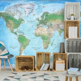 Blauw Wereldkaart nr 948