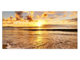 14 Sunset Zee Zon Glas Schilderij