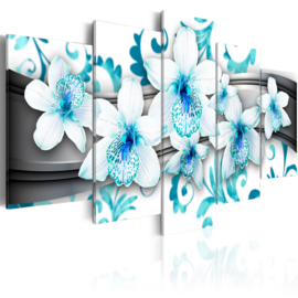nr12 Modern Orchidee Blauw Wit