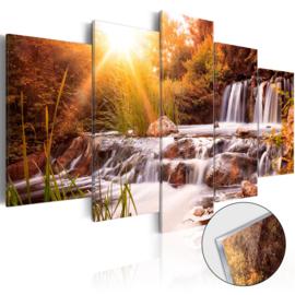 38 Waterval Natuur Acrylglas Schilderij