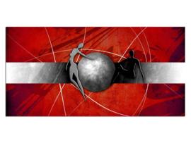 40 Modern Rood Grijs Glas Schilderij