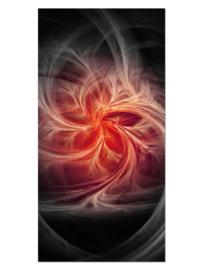 134 Vuurbloem Glas Schilderij
