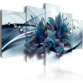159 Modern Blauw Bloemen