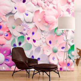 Abstract Bloemen Roze nr 479