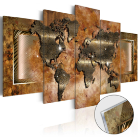 9 Wereldkaart Acrylglas Schilderij