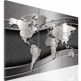 nr 28 Wereldkaart grijs