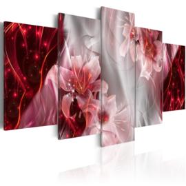 633 Rood Modern Bloemen