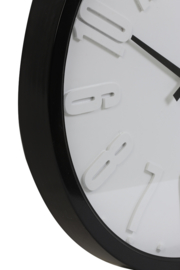 Stoer Zwart Wit Wandklok 58cm