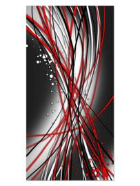 143 Abstract Rood Grijs Glas Schilderij