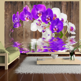 Paars Orchidee Hout nr 423