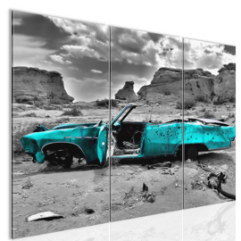 nr 2 Blauwe Cabrio
