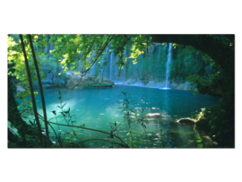 8 Waterval Natuur Glas Schilderij