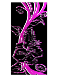 145 Abstract Bloem Roze Glas Schilderij