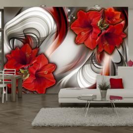 Rood Bloemen Modern nr 430