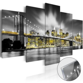 42 New York Brug Acrylglas Schilderij