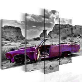 nr23 Paars Cabrio Oldtimer
