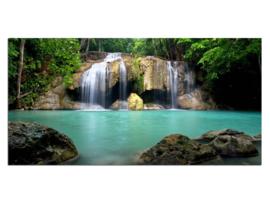 4 Waterval Paradijs Natuur Glas Schilderij
