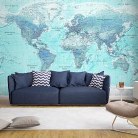 Blauw Wereldkaart nr 940