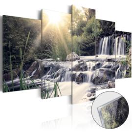 39 Natuur Waterval Acrylglas Schilderij