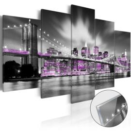 43 New York Brug Acrylglas Schilderij