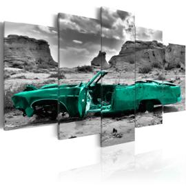 768 Groen Cabrio Oldtimer