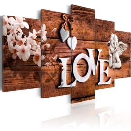 600 Engel Love Hout