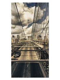 126 New York Brug Glas Schilderij