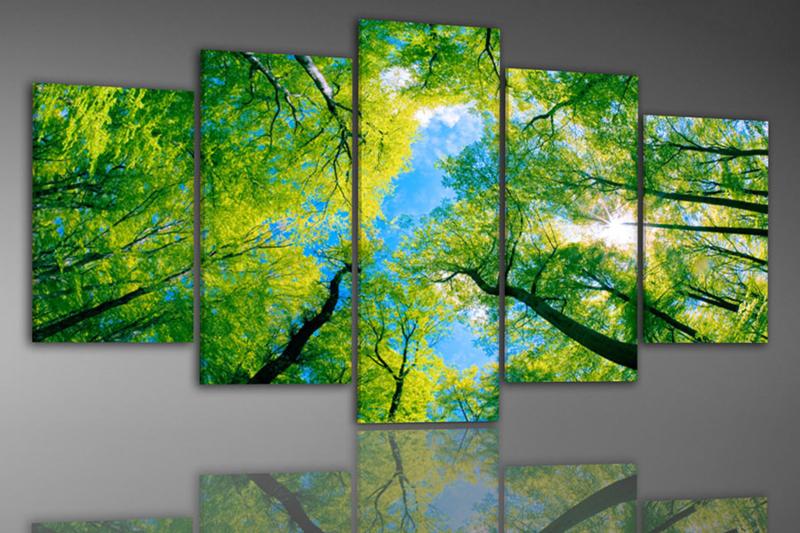 Bomen Blauwe Lucht 200x100cm