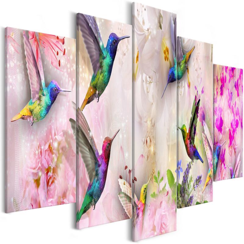 943 Roze Colors Vogels