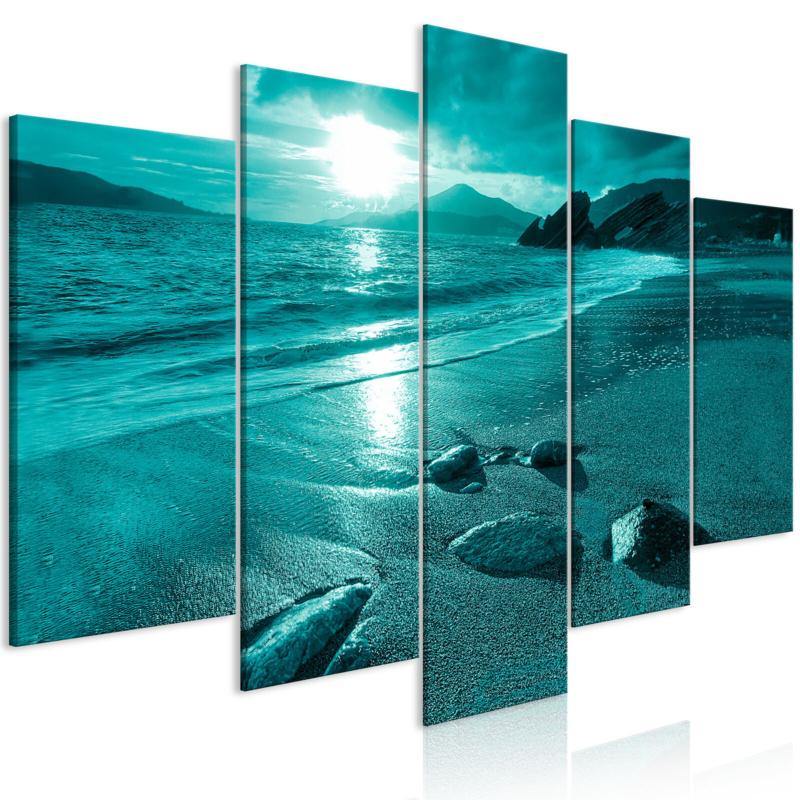 949 Blauw Zee Strand Zonsondergang