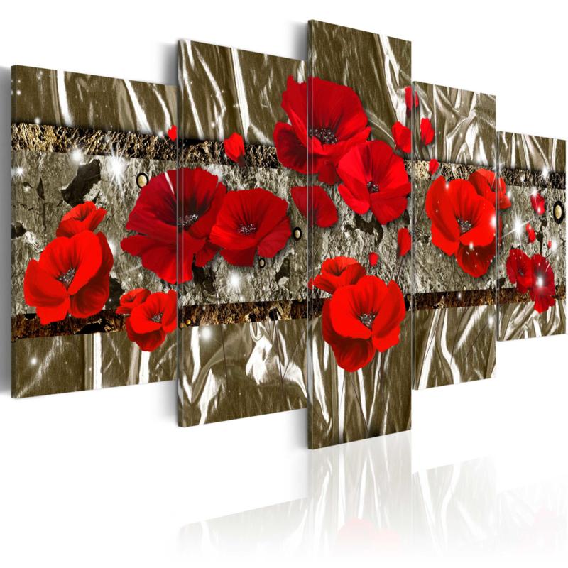 544 Modern Rode Bloemen