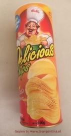 Fop: Chipsbus met springslang