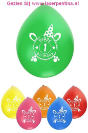 Cijfer opdruk Ballon '1'