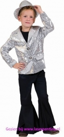Disco glitter Colbert zilver