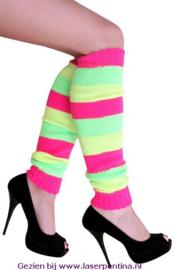 Beenwarmers neon streep