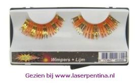 Wimpers Lametta goud/oranje