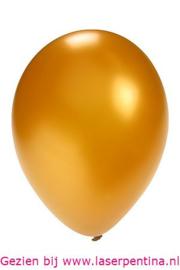 "Effen Ballon 5"" metallic goud"